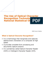 The Use of Optical Character Recognition Technology In