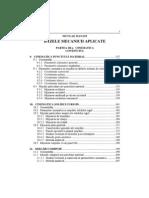 Bazele Mecanicii Aplicate - CINEMATICA