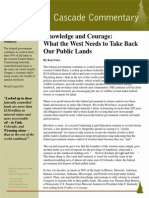 Knowledge and Courage Cascade Policy Inst
