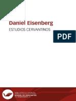 115145252 Daniel Eisenberg Estudios Cervantinos 2003