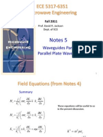 Notes 5 - Waveguides Part 2 Parallel Plate