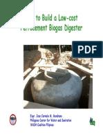 Ferrocement Biogas Digester