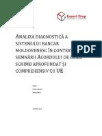Analiza Diagnostica a Sistemului Bancar Moldovenesc in Contextul Semnarii Acordului de Liber Schimb Aprofundat Si Comprehensiv Cu UE