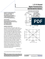 Digital Potentiometer AD8400 8402 8403