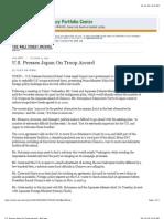 U.S. Presses Japan on Troop Accord