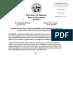 Dovilla Praises Ohio EPA Decision to Prevent Dumping in Lake Erie