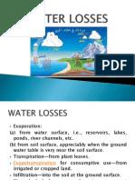 WATER LOSSES