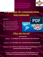 Politique de Communication Internationale