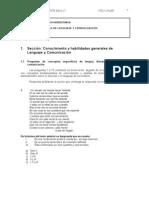 PRUEBA DE  LENGUAJE Y COMUNICACIÓN ENSAYO 1 - UNAB