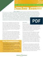 Absent Teacher Reserve