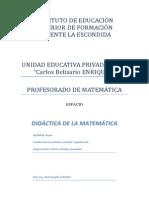 IRMA SAINZ y PARRA didactica matemática