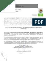 Manual de Procedimientos para  la Verificación del Transporte sin riesgo de mercancías peligrosas