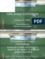 Green Committee Presentation to PA
