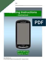 Sonyericsson Xperia Pro Mk16i Working Instructions