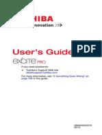 Toshiba Excite Pro Manual