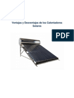 Ventajas y Desventajas de Los Calentadores Solares (2)