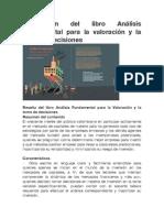 Publicación del libro Análisis Fundamental para la valoración y la toma de decisiones