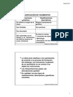6ª Clase - Clasificación de Yacimientos (1)