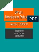 EPP 201- Lecture 1 Intro