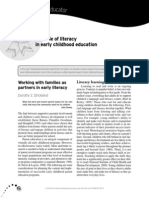 role of literacy in early childhood education 1