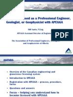 APEGGA Licensure Talk - CPEG 2011