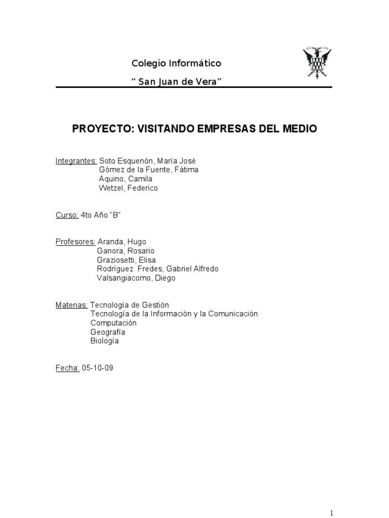 Circuito Yerbatero : Informe circuito yerbatero to año