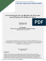 Caracterização de um Modelo de Processo para Projetos de Software Livre