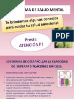 presentación salud mental feria de salud 2013