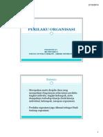 Perilaku Organisasi Handout