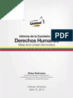 Informe de la Comisión de Derechos Humanos 15.4.2014
