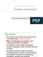 Proportioning Concrete Mixes