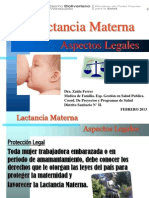 Aspectos Legales de La Lactancia Materna Trabajo Comunitario