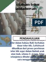 Produk olahan telur