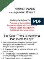 Week 7 Notes _Working Capital
