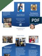 johnstown backpack project brochure