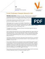 press release pistorius