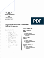 Newcastle Grammar 2010 English Advanced Trial Paper 1
