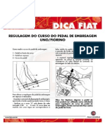 Regulagem Do Curso Do Pedal de Embreagem Uno Fiorino Abril