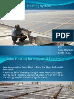 Solar Industrial Heating System Ppt