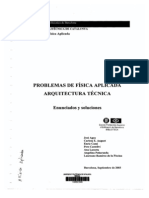 PROBLEMAS DE FÍSICA APLICADA A LA ARQUITECTURA TÉCNICA