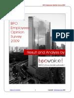 BPO Employees Opinion Survey 2009