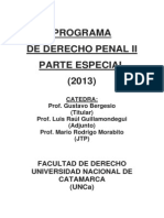 Programa de Derecho Penal II
