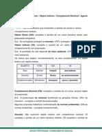 Objeto Direto - Indireto - Complemento Nominal - Agente Da Passiva