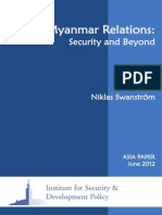 Sino Myanmar Relations