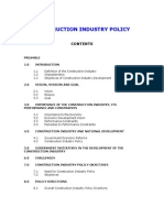 Construction Industry Folicy 2003