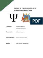 Plan de Trabajo de Psicologia Del 2012