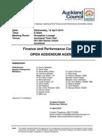 Finance and Performance Committee - Addendum 04.14