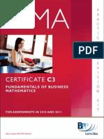 Cima Certificate Paper c3 Fundamentals of Business Mathematics Practice Revision