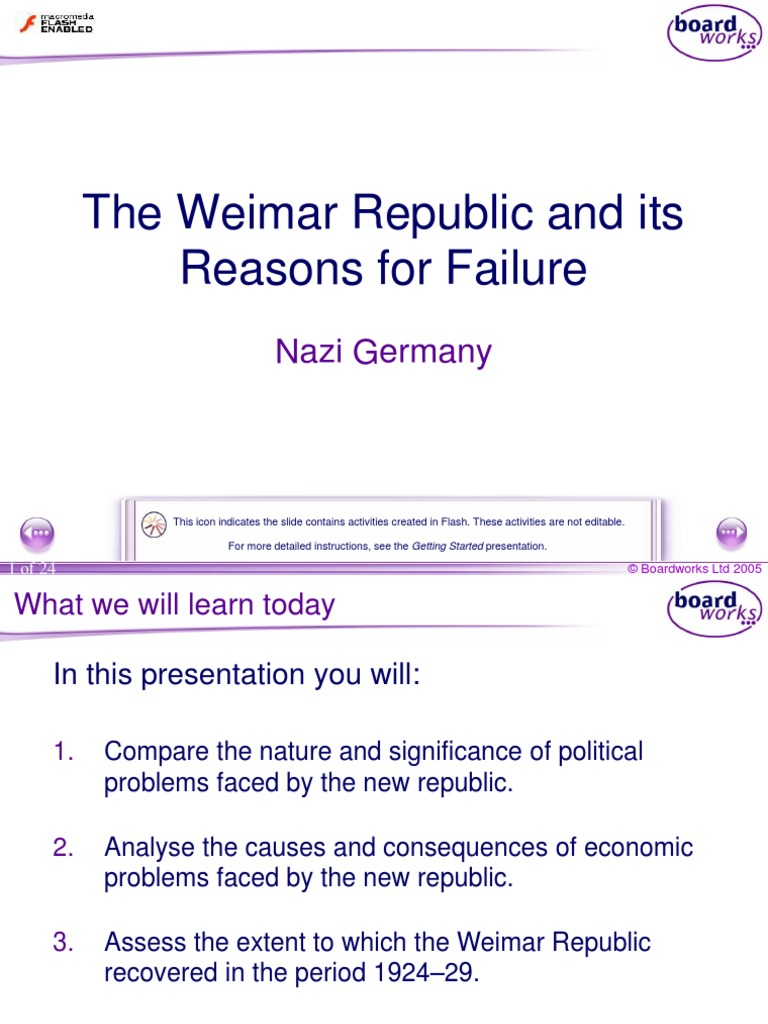 to what extent did the weimar republic recover