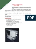 Electromagnetic Flow Meter Model